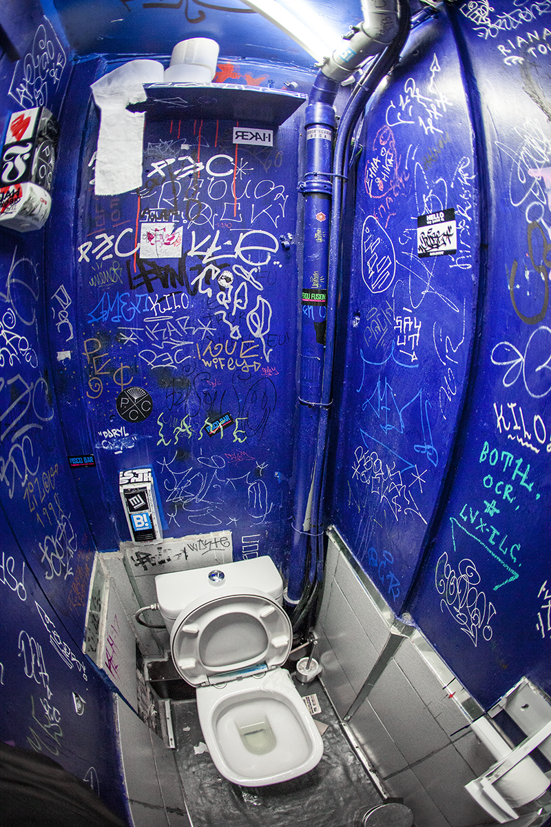 La Petite Reine has one of the smallest toilets in Geneva, not good if you're claustrophobic.