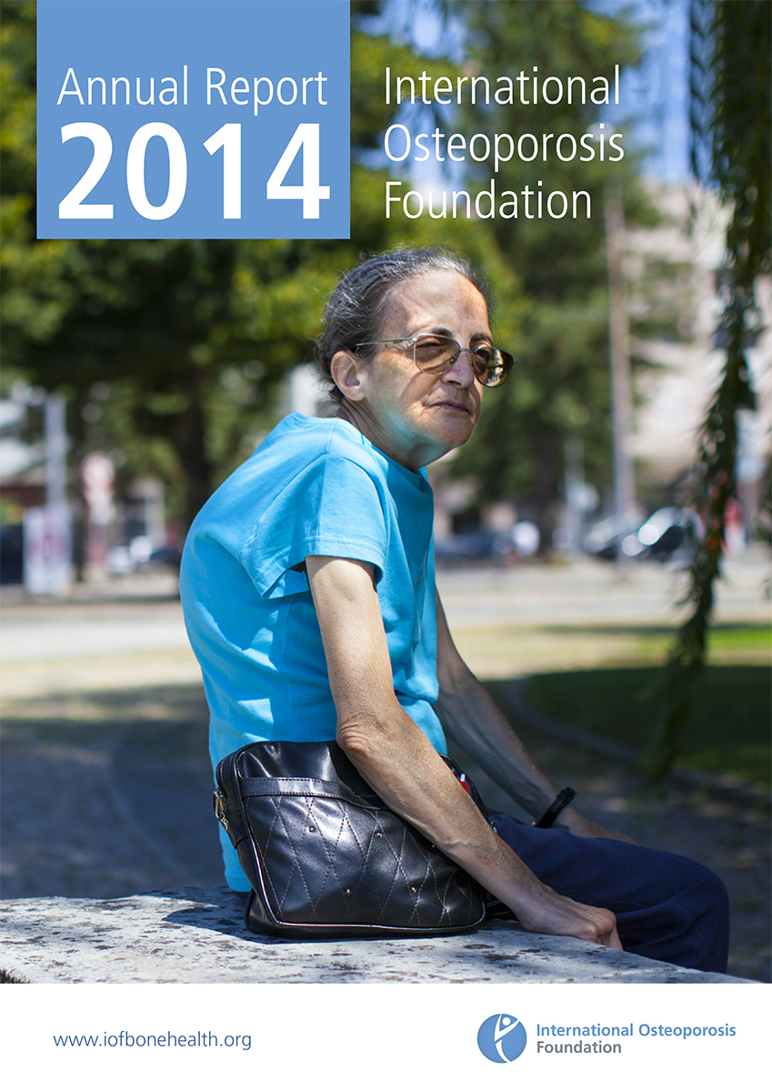 Osteoporosis patient in Portugal on cover of the International Osteoporosis Foundation's 2014 Annual Report