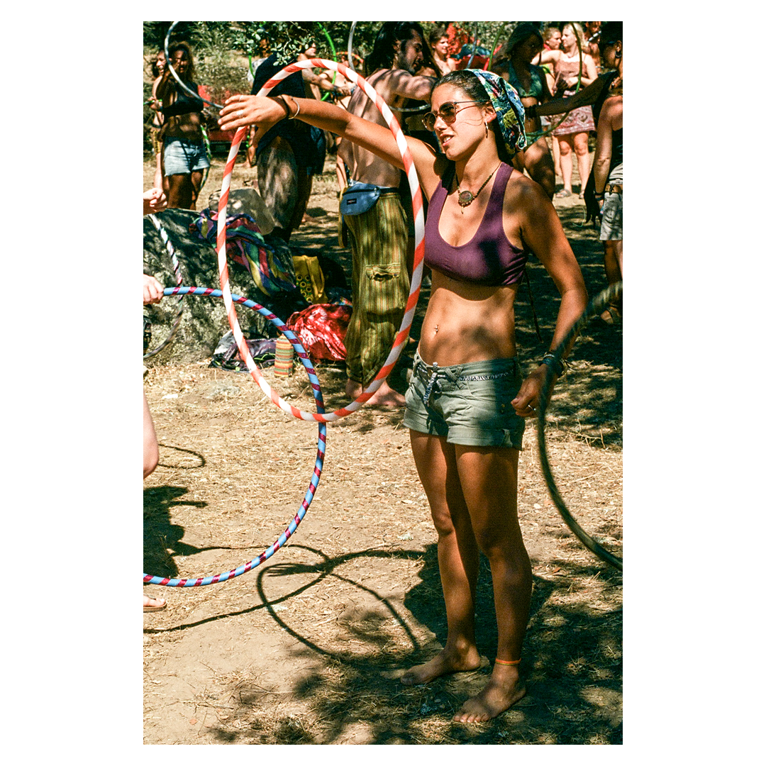 Spin spin twist spin. One of the many workshops at Boom Land offers hula hoop introductory lessons to further connect with your inner ballerina.